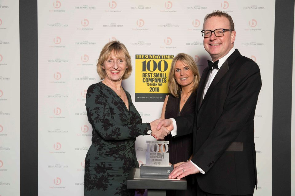 jtp named in sunday times 100 best small companies to work for 2018