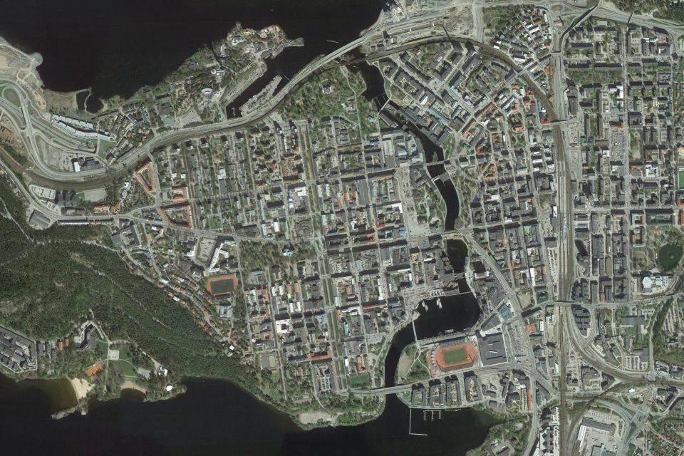 West+ Länsikeskustan alue kartta