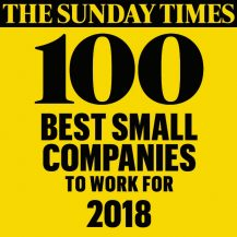 Sunday Times 100 Best Small Companies to Work For 2018